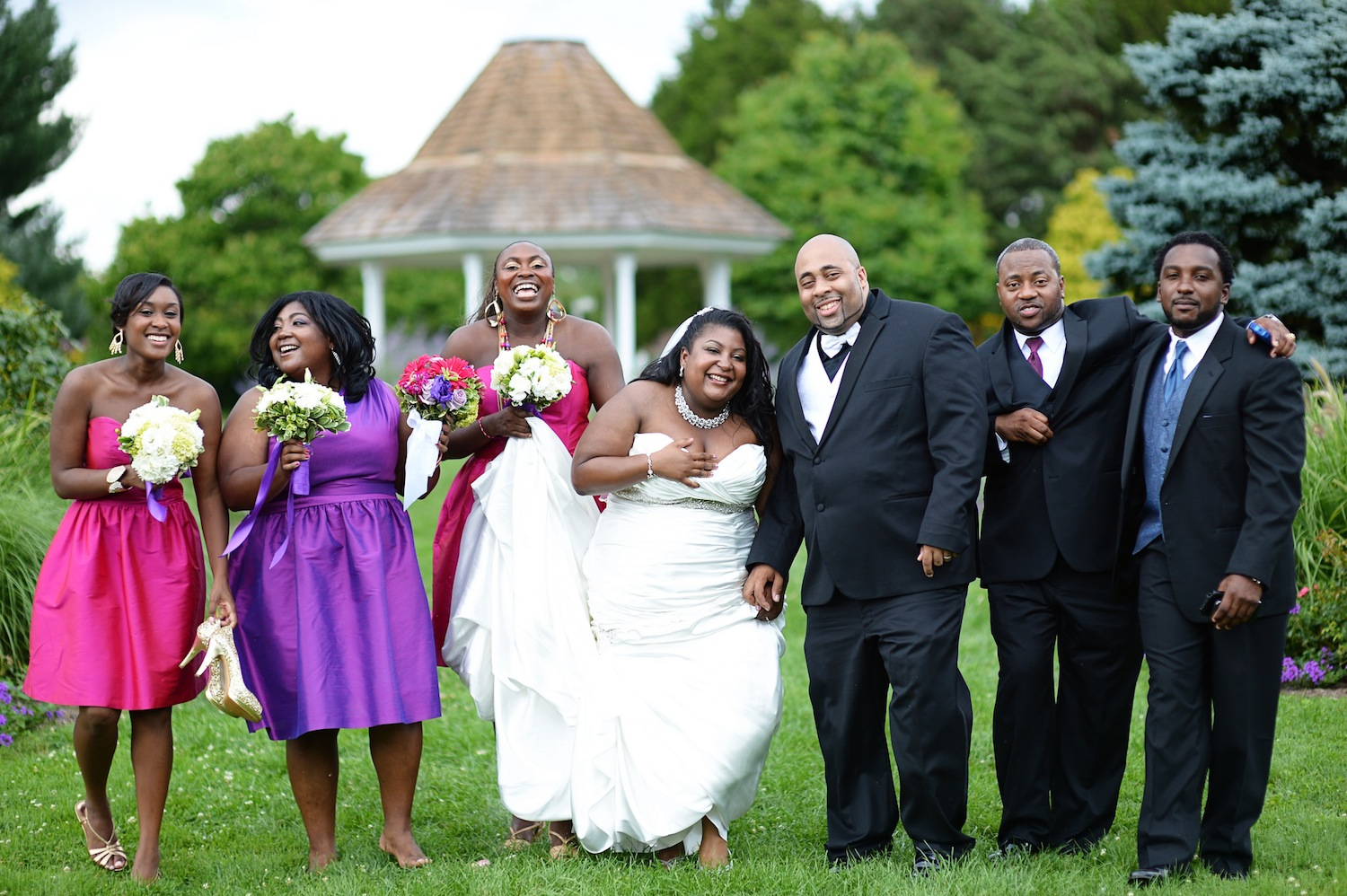 The Casual Wedding Party Family Shot