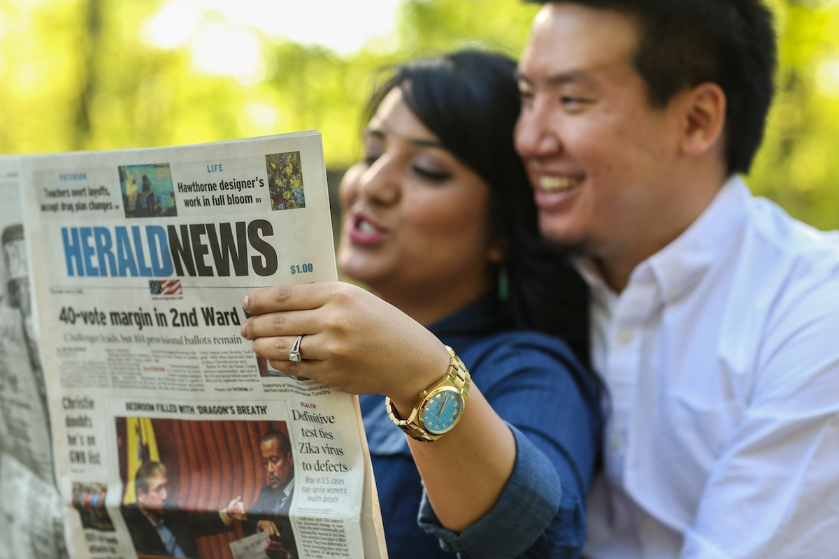 newspaper-engaged-couple-wedding-photos-nj