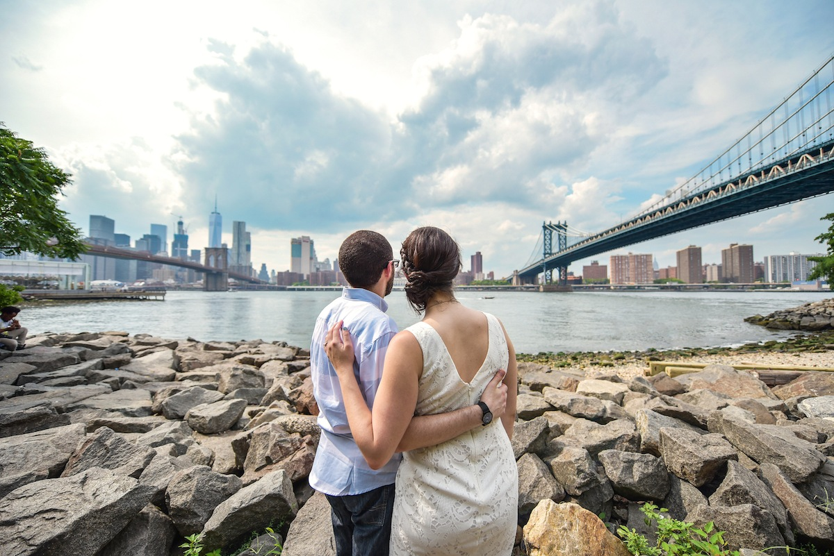 engaged-couple-look-at-view-new-york-city-photography