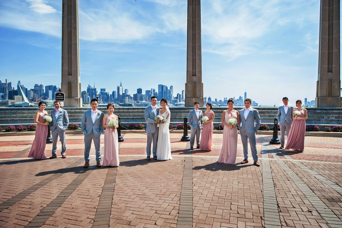 wedding-party-by-hudson-river-nj-wedding-photography