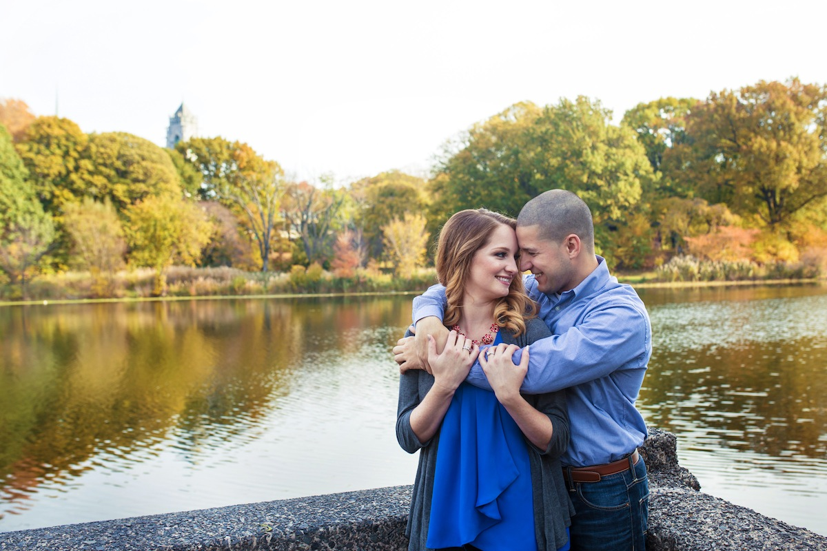 anthony-hugging-alexis-near-pond-in-park-nj-engagement-photos