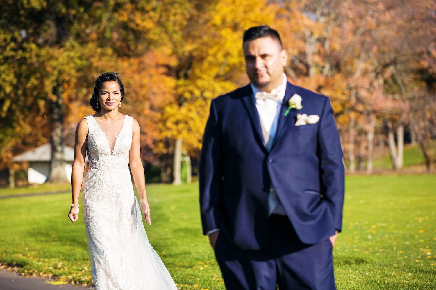 aisha-approaching-victor-for-first-look-on-wedding-day-nj-photography