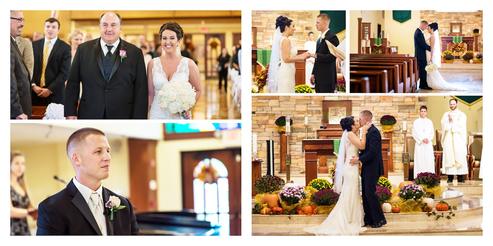 colleen-and-tommy-ceremony-album-page-from-new-jersey-wedding-photographers
