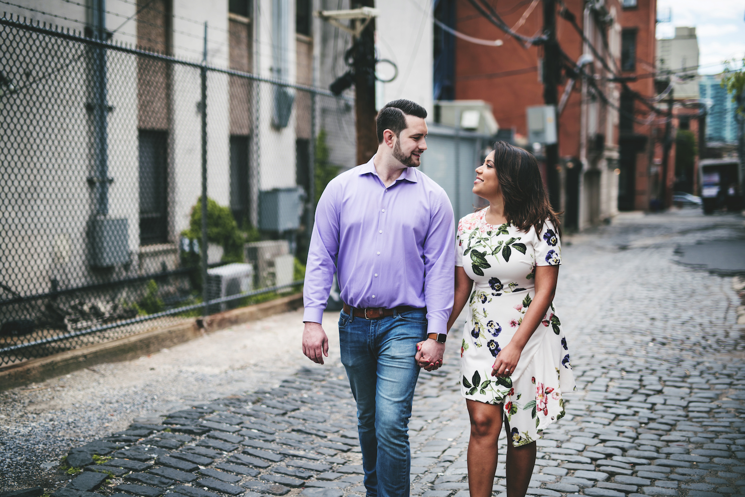 charles-&-stephanie-walking-and-holding-hands-nj-engagement-photography