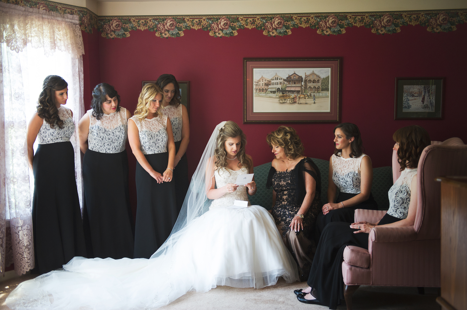 tricia-card-reading-with-mom-bridesmaids-wedding-photography-nj