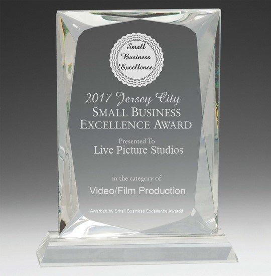 Live Picture Studios Wins Jersey City Small Business Excellence Award for Film & Video Production!
