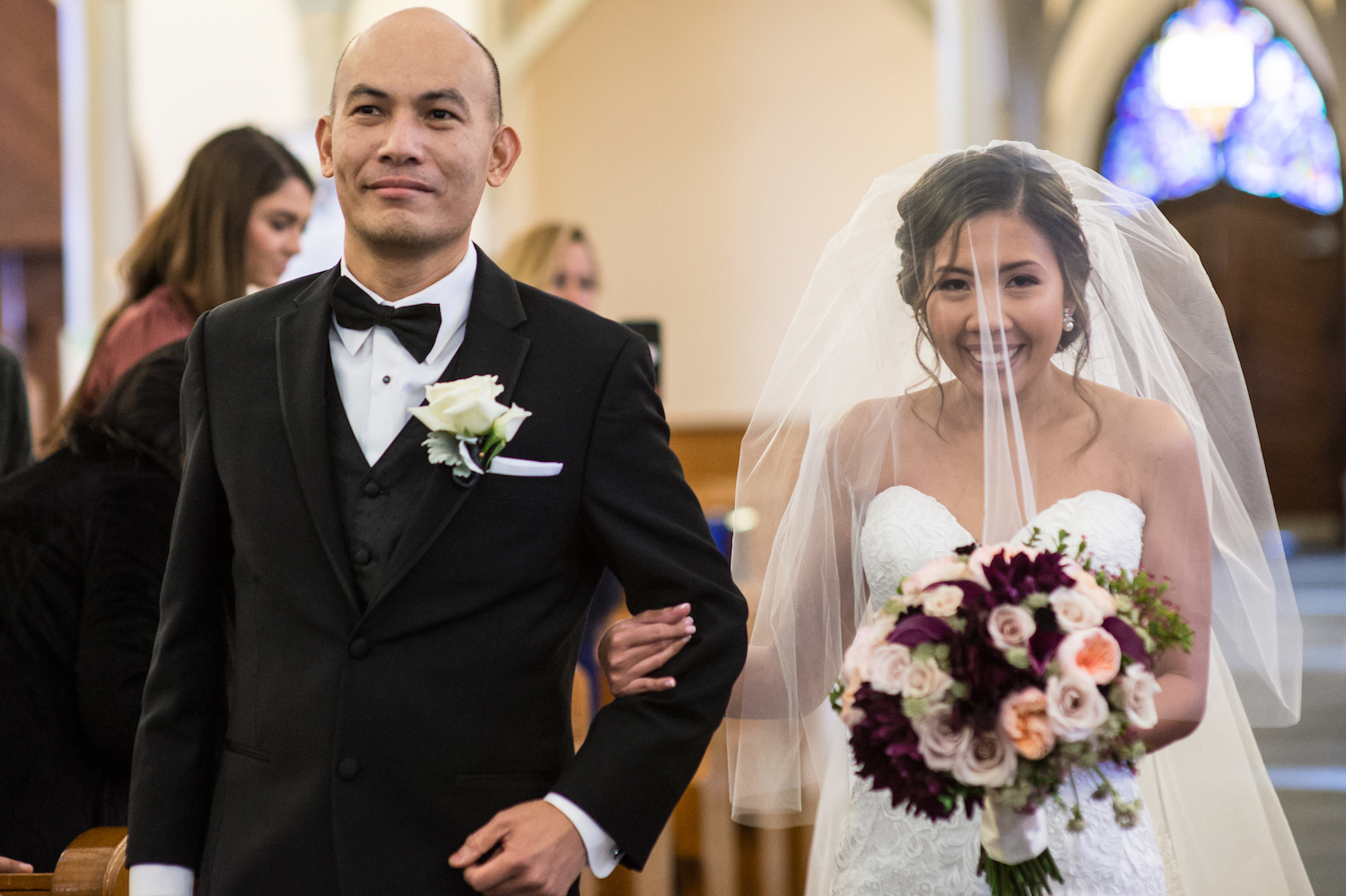 leah-being-walked-down-aisle-church-ceremony-nj-wedding-photography