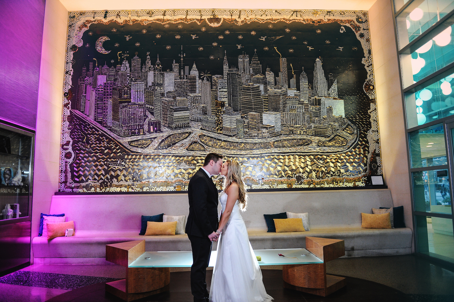 Annie and Adam – Wedding Photo Highlights from The W Hoboken in Hoboken, NJ