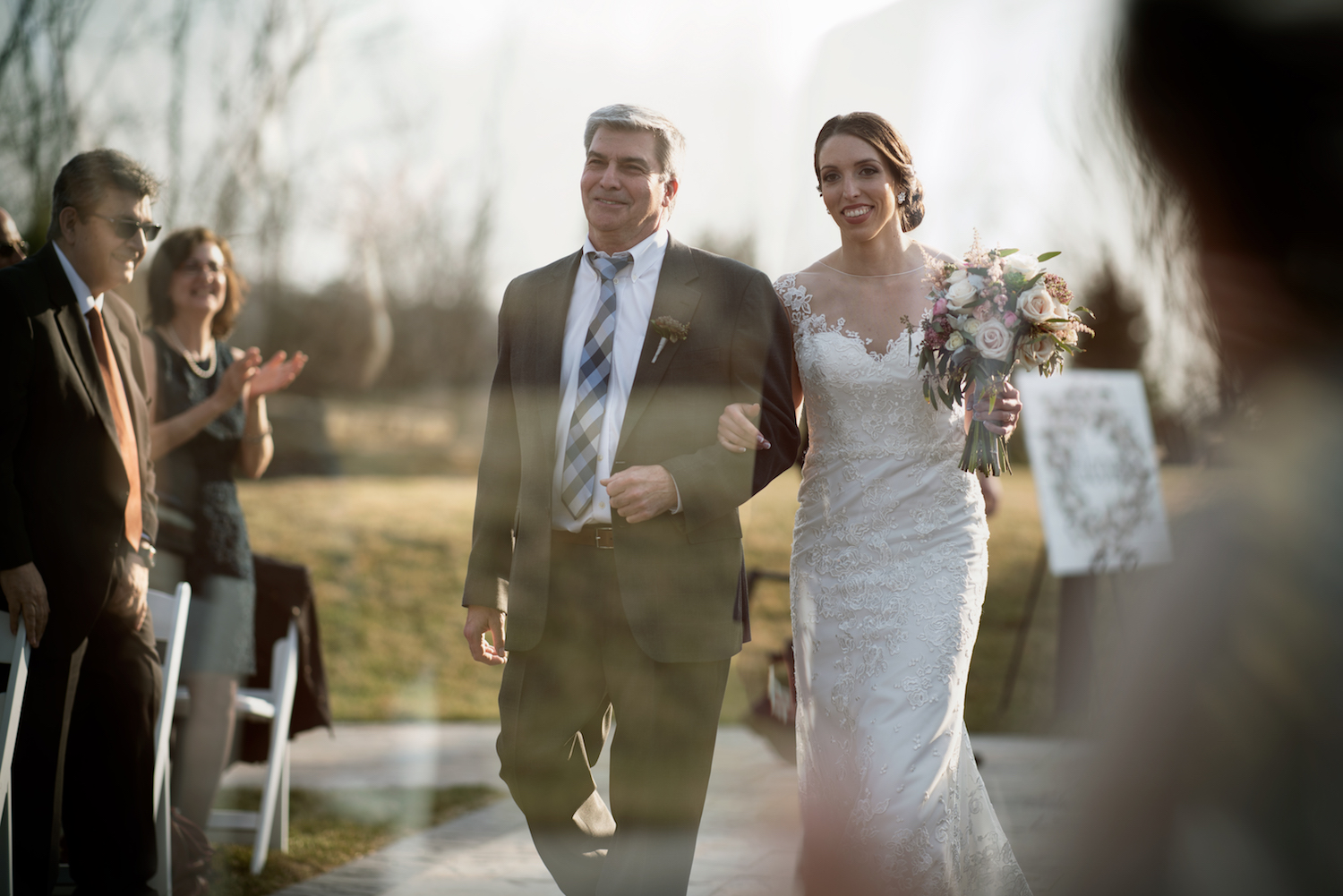 kelly-dad-walking-down-aisle-outdoor-ceremony-nj-wedding-photographers