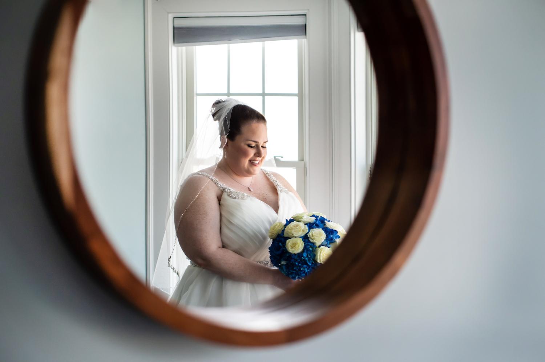 nj-wedding-photographers-alli-bride-prep-mirror-bourquet-dress