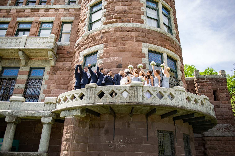 nj-wedding-photographers-james&nicole-groomsmen-bridesmaids-cheer-lambert-castle