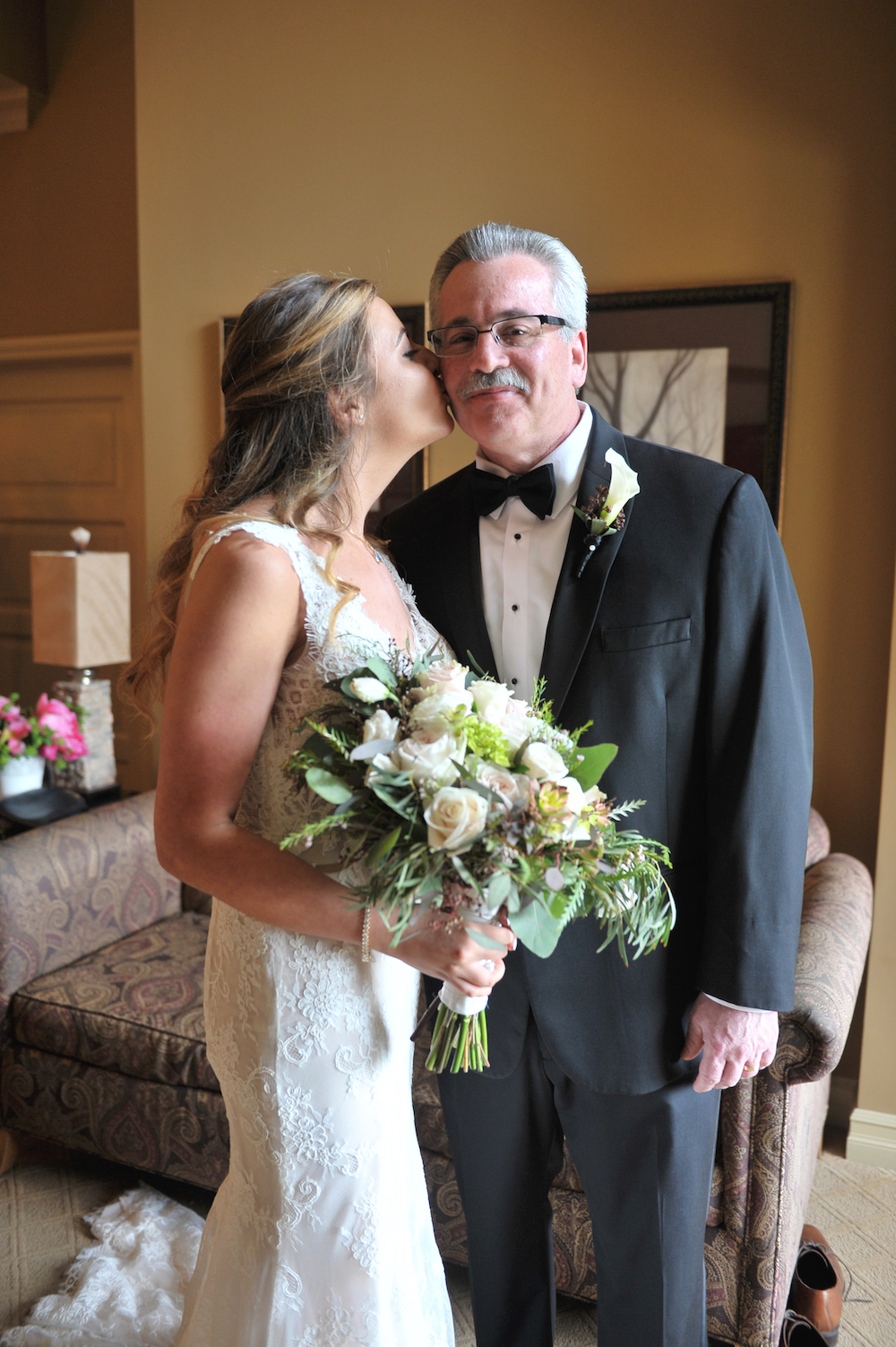 nj-wedding-photographers-nicole&mike-bride-kissing-father-prep